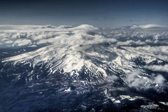 Flyby Mount Hood (Thad Roan - Bridgepix) Tags: mountain snow nature clouds oregon portland landscape mounthood 201205
