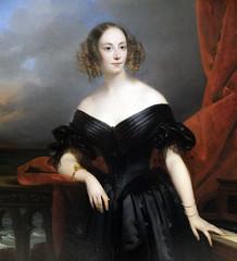 Portrait de Madame Rampal, Comtesse de Grigneuseville (détail)
