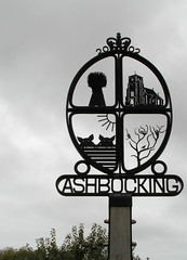 Ashbocking Village Sign (The original SimonB) Tags: sign suffolk october samsung 2012 villagesign autumnul ashbocking wb690
