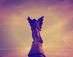 Peace Be With You (MiruTamashi*Imagery) Tags: autumn sunset fall halloween statue death october cemetary cemetaries graves spooky angels spiritual tombstones tombs honoringthedead oldcemetaries oldstatues