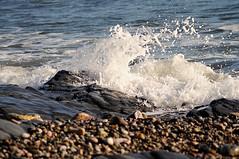 Splash on the Seashore (rosiespoonerphotos) Tags: sea seascape water nikon rocks waves torquay tamron seashore torbay meadfootbeach rosiesphotos tamronaf70300mmf456dildmacro nikond5000 rosiespooner rosyrosie2009 rosemaryspooner rosiespoonerphotography