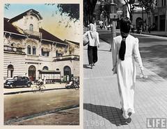 Saigon 1950s - Direction des Services Économiques - Đường Pasteur, gần ngã tư Pasteur-Lê Thánh Tôn (manhhai) Tags: saigon 1950