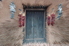 Fragments - Red Chile Door (Michael Guttman) Tags: door abstract newmexico photoshop nikon doorway lamy fragments extruded d90 redchile redchili michaelguttman goatcrossingimages