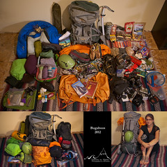 What's In Your Bag? - Alping Climbing in The Bugaboos (Tideline to Alpine Photo, Idiosyncrasy Exemplified) Tags: camping food coffee nikon packing helmet olympus rope cams adventure backpacking backpack whatsinyourbag harness preparation iceaxe oakley msr blackdiamond icebreaker crampons lowepro alpinism bugaboos mountainhardwear petzl arcteryx lasportiva climbingshoes chalkbag climbinggear alpineclimbing whisperlite bora80 organicclimbing goprohd2