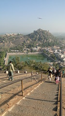 Shravanbelagola - View of the town and pond at the center of it