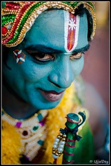 The Krishna (ujjal dey) Tags: blue smile god dreams hindu sankranti shallowdepthoffield blueface f20 ujjal nikon35mm shilparamam nikond90 ujjaldey ujjaldeyin thekrishna sankranti2013