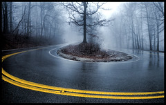 Hairpin - Another Take. (BamaWester) Tags: road mist misty fog huntsville alabama foggy hairpin montesano bamawester napg turnyellow