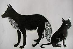 in progress (Pippypippy) Tags: coyote bw art animal ink cat fur furry sticker stickerart chat drawing tail gato sharpie draw paws inkdrawing animalart domesticshorthair