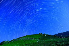 Star trails over tea field @ (Vincent_Ting) Tags: sunset sky clouds taiwan  formosa  jiayi startrails   seaofclouds alisan    teafield