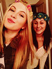 Ireland Baldwin posted a photo of herself and her friend wearing homemade headbands on Twitter with the caption 'We decided to make headbands.'