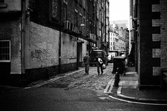 Arches Alley (Nick Lambert!) Tags: street blackandwhite bw scotland fuji glasgow streetscape nicklambert archesalley fujix100 fujinonasphericallens