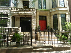 Chicago, Gold Coast, Two Residences Cheek by Jowl (Mary Warren (7.1+ Million Views)) Tags: chicago goldcoast architecture building house residence gate railing door portal entrance fence