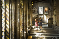 Cloister Conversation (zolaczakl ( 2 million views, thanks everyone)) Tags: cloister bristol lightshadow bristolcathedral cathedral uk england southwest people photographybyjeremyfennell sigma1835mmf18dchsmlens august 2016