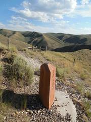 ID-UT-WY Corner Monument (jimmywayne) Tags: monument corner utah border historic idaho wyoming tristate lincolncounty tripoint bearlakecounty richcounty threestate