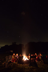 Campfire and Stars (Kyle-W) Tags: 1116mm campfire camping canon exposure fire iowa long night outdoor stars t3i tokina benro tripod