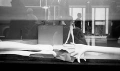 Untitled (shudaizi) Tags: developer xtol leicasummicron35mmf20asph window genre street reflection selfreflection film 2014 ei250 storedisplay shopwindow hp5 blackandwhite m6 lens