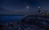 light up my way (Glen Parry Photography) Tags: nikon d7000 glenparryphotography night nightphotography sea ocean light dorset uk sigma sigma1020mm rocks longexposure lighthouse portlandbilllighthouse