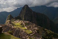 Machu Picchu set against the backdrop of Huayna Picchu, Peru
