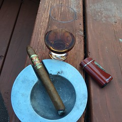 Opus X and Old Rum (fixedgear) Tags: cigar rum ashtray lighter opus fuente