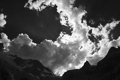 Clouds.... (JohannesMayr) Tags: bw black white schwarz weiss alpen alps wolken clouds steingletscher gipfel peak panorama berge mounten himmel sky mood light licht schweiz switzerland uri kanton bern giglistock gadmen berner oberland urner