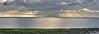 The Encore (alun.disley@ntlworld.com) Tags: sunset horizon weather panorama windfarm sky clouds sea seascape water rocks algea hilbreisland merseyside wirral england uk sunbeams nature evening