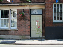 Portal Poppies (pefkosmad) Tags: brandonsmurals streetart publicart door entrance doorway portal poppies art flowers tewkesbury gloucestershire england uk churchstreet