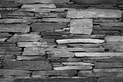 Dry Stone Wall 5/5 (rees_wj) Tags: blackandwhite texture architecture sony a6000 tamron bnw stonework rock rocks monochrome pattern abstract ireland 2870mm