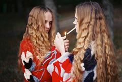 (Mariam Sitchinava.) Tags: film analog portrait twins tbilisi 35mm grain color light mariamsitchinava georgia