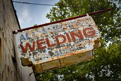 All American Welding (tim.perdue) Tags: independents day festival 2016 columbus ohio franklinton all american welding sign old rusty rusted urban decay rust peeling paint faded abandoned forgotten city downtown