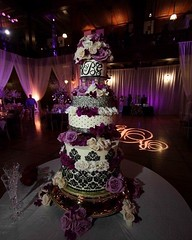 Wow! This #weddingcake & #monogram pop with a great #cakespotlight & #uplighting. Great photo via #indulgy (RentMyWedding) Tags: diy rentmywedding wedding uplighting diywedding weddingideas weddinginspiration ideas inspiration celebration weddingreception party weddingplanner event planning dreamwedding
