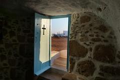 sunset light (GEOLEO) Tags: greece skiros church door stone