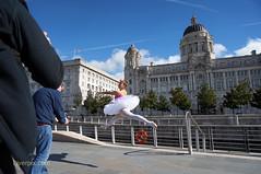 DSC06275 (liverpix) Tags: cleo dog performing anthonywalsh photowalk 500px liverpool pierhead liverbuilding ballerina ballet