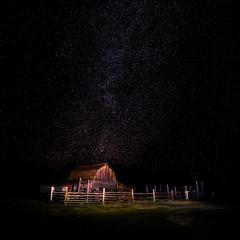 Grand Teton Barn w Milky Way (Ms Stacy) Tags: grandteton nationalpark milkyway barn old