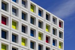 Mondriaan facade (Jan van der Wolf) Tags: map12642v facade gevel primarycolors building gebouw perspective perspectief denhaag architecture architectuur modernarchitecture geometric geometry geometrisch geometrie