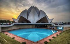 Bah' (Fil.ippo) Tags: bah bahai lotustemple delhi india houseofworship architecture hdr sunset filippo filippobianchi d610 newdelhi