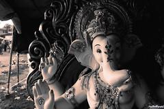 ganeshji (Jayneel Gajjar) Tags: ganpati jayneelography black white