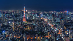 (mikemikecat) Tags: roppongihills   tokyo japan  sony a7r sel2470z carl zeiss t 2470 carlzeiss cityview  nightview night  tokyotower mikemikecat nightscape cityscape landscape city       skydeck