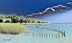 Lac alpin comme un lagon (jean_game) Tags: paysage alpes couleurs lumire paix calme nature landscape alps colors light peace calm