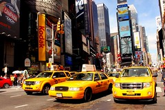 new york city nyc ny newyork ford yellow square automobile manhattan cab taxi times timessqr konomark