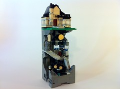 Micro Wayne Manor and Batcave (Flynn2000) Tags: batcave lego batman batmobile waynemanor gothamcitywar