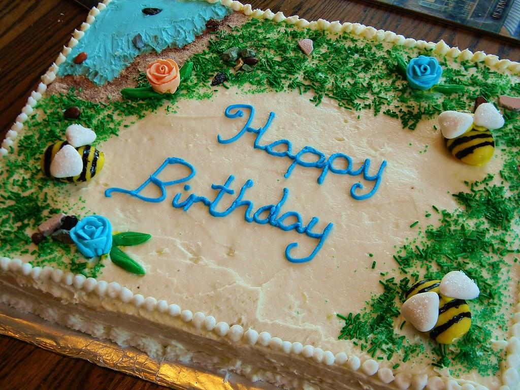 Birthday Cake (yummysmellsca) Tags: birthday flowers blue grandma ...