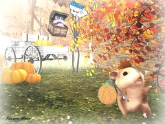 ! (Kazumi Alsop) Tags: autumn fall pumpkin sl secondlife thief hamster watchman      beetlebones