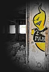 The ghost of the hotel (Eleanna Kounoupa (Melissa)) Tags: abandoned graffiti hotel xenia parnes       greece