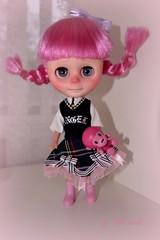 Anastasia.... (PinkWorld) Tags: school uniform doll littlegirl custom pinkhair pinkdoll pinkuniverse pinktopia pinkcess cutepinkworld