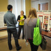 North Carolina Campuses Against Hunger attendees look over posters and discuss ideas prior to the second day sessions.