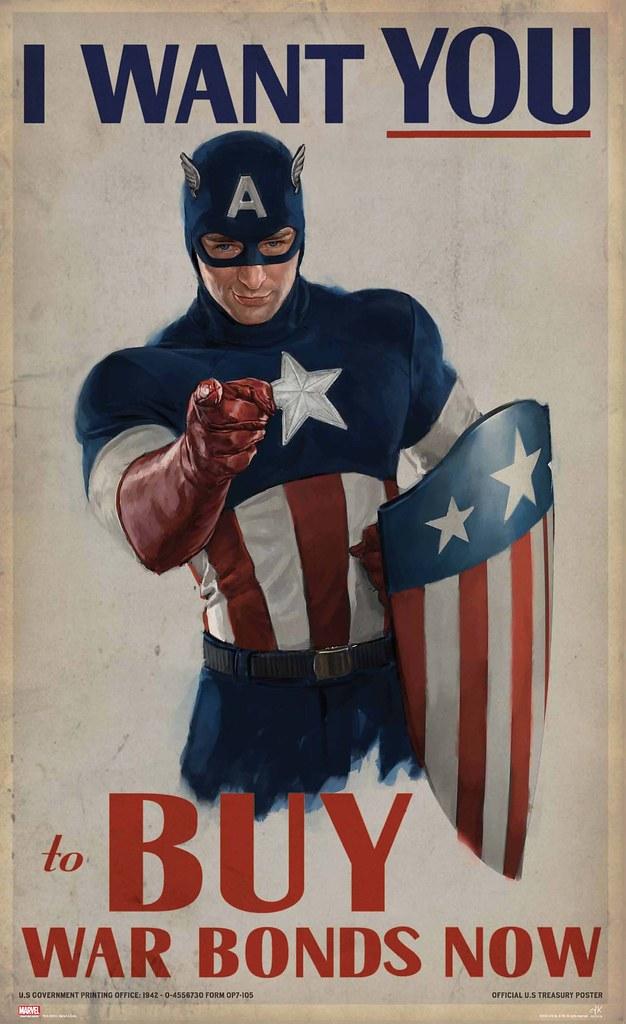 「美國隊長」電影道具複製海報