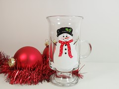 Irish Coffee Cup Snowman Hand Painted (Painting by Elaine) Tags: christmas kitchen glass mugs snowman painted housewares handpainted christmasdecor homedecor glassware coffeecups paintedglass kitchendecor handpaintedglass hostessgift teachergift paintedcups giftbasketidea snowmandecorations snowmancollector paintingbyelaine irishcoffeemug paintedcoffeecup snowmanlover