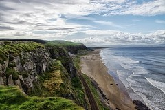 Benone - Northern Ireland (C.M_Photography) Tags: sea sky beach nature water grass landscape sand scenery rocks waves view scenic downhill colourful benone platinumheartaward