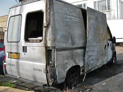 Burned PEUGEOT Boxer (ClassicsOnTheStreet) Tags: bus amsterdam 2000 accident 25 di boxer delivery van wreck peugeot burned ongeluk 2012 lieferwagen td panne wrak pech uitgebrand epave furgon fourgonne 95vnpd