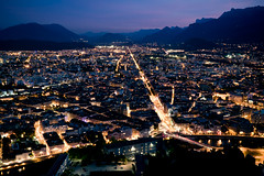 Grenoble (ArsReflex) Tags: night grenoble cityscape lumire nuit ville labastille